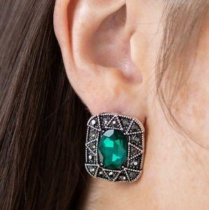 Green Post Earrings